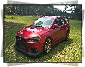 Czerwone, Mitsubishi Lancer Evolution X Rally Red
