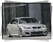Srebrny, BMW 5, E60, Coupe