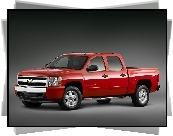 Czerwony, Chevrolet Silverado, Pick, Up