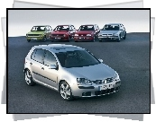 Volkswagen Golf 1, Volkswagen Golf 2, Volkswagen Golf 3, Volkswagen Golf 4, Volkswagen Golf 5