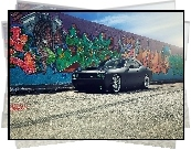 Dodge, Challenger, Mur, Graffiti