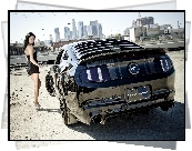 Girl car, Kobieta, Ford, Mustang